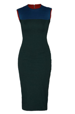 Bethine Fitted Olive Ponte Dress